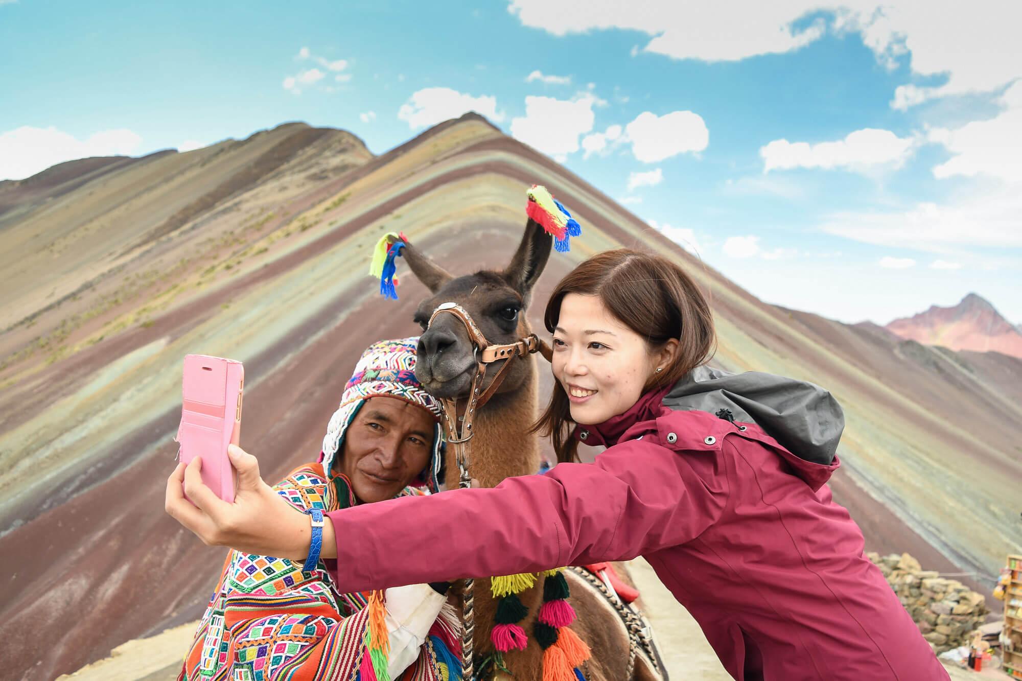 Rainbow Mountain Selfie